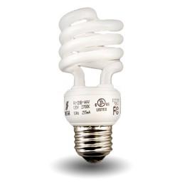 Mini Spiral Compact Fluorescent - CFL - 19 watt - 27K