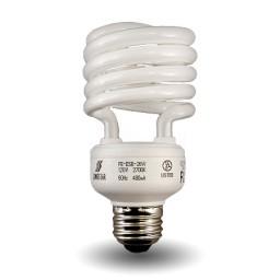 Spiral Compact Fluorescent - CFL - 15 watt - 27K