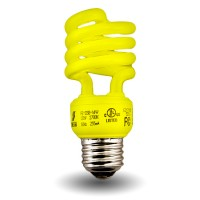 Yellow Mini Spiral Compact Fluorescent - CFL - 13 watt